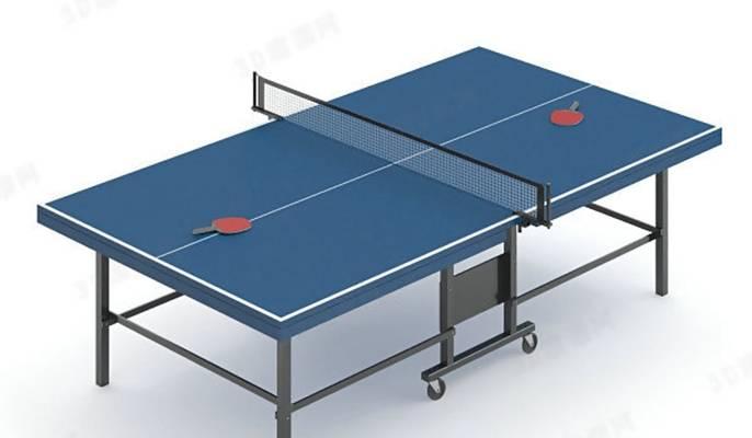 乒乓球桌13D模型【ID:917152338】