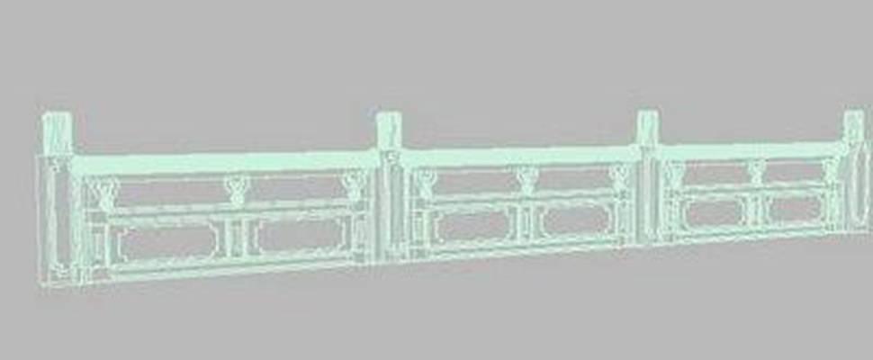 大理石栏杆13D模型【ID:917164167】