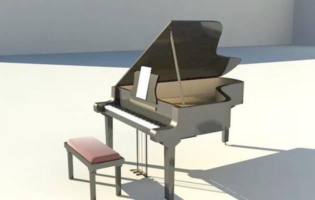 钢琴33D模型【ID:917266905】