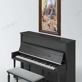 钢琴13D模型【ID:917282956】