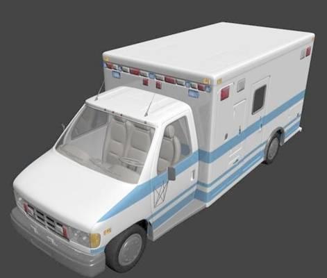 救护车13D模型【ID:917346125】