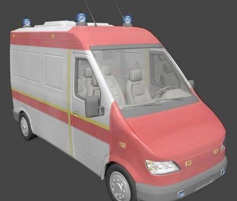 救护车23D模型【ID:917346126】