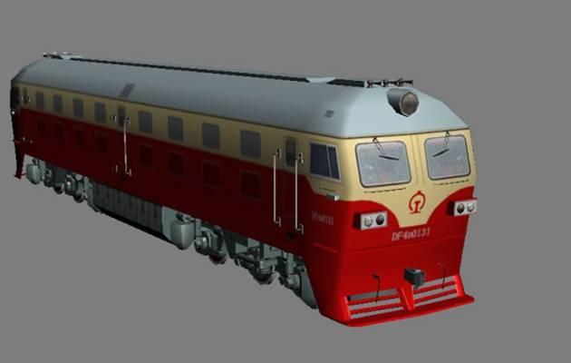 火车13D模型【ID:917384539】