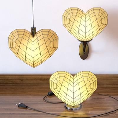 现代玻璃灯具组合3D模型【ID:917560846】