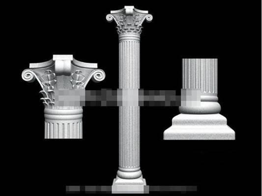 石头欧式构件3D模型【ID:917569200】