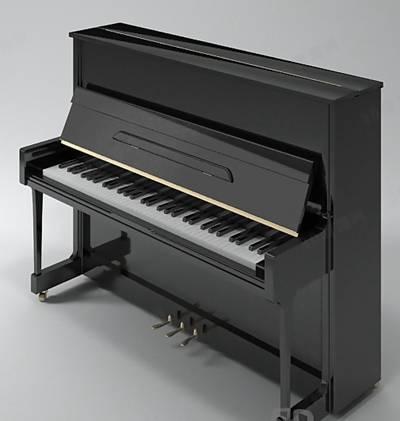 黑色木艺钢琴3D模型【ID:917583969】