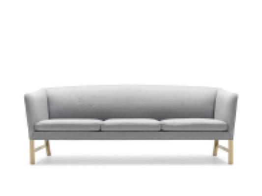 现代灰色布艺三人沙发3D模型【ID:917585841】