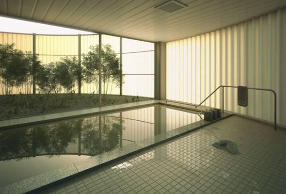 现代游泳馆3D模型【ID:917593953】