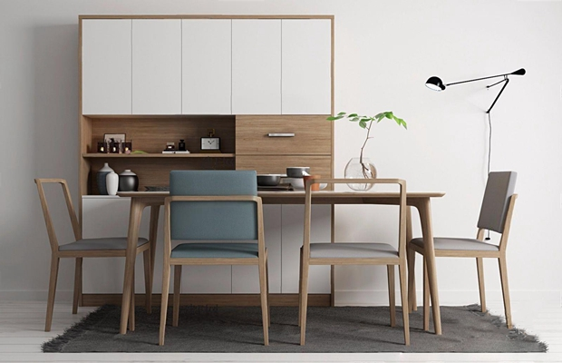 現代北歐餐桌椅3D模型【ID:327916481】