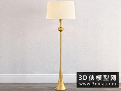 現代金屬落地燈國外3D模型【ID:929456080】