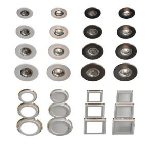 现代金属圆形筒灯方形筒灯3D模型【ID:627806600】