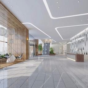 现代办公大厅3D模型【ID:728307702】
