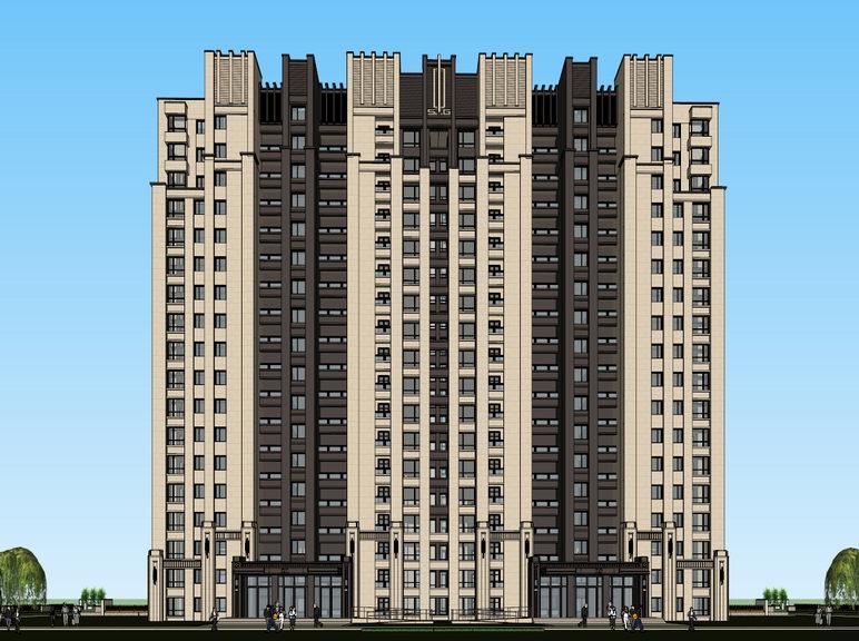 新古典高層住宅SU模型【ID:236569746】