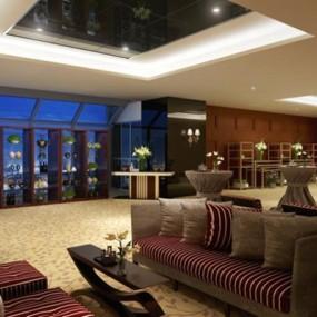 酒店沙发休闲椅组合3D模型【ID:427937518】