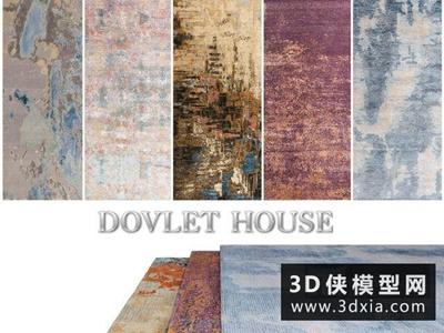 现代地毯国外3D模型【ID:329354856】