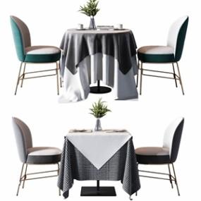 现代餐桌椅组合 3D模型【ID:841545857】