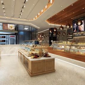 现代甜点餐饮3D模型【ID:528289545】