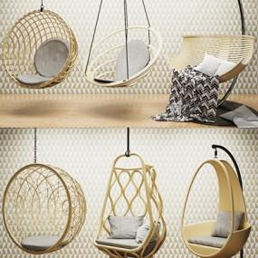 现代吊椅秋千3D模型【ID:728063189】