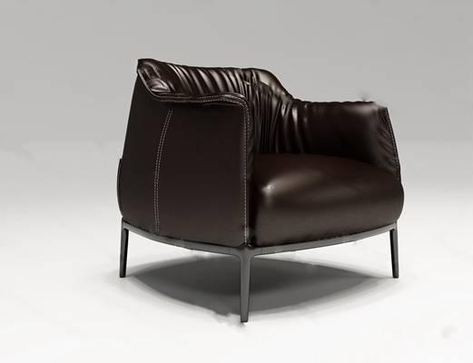 单人沙发3D模型下载【ID:919401636】