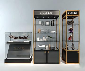 现代餐具展示柜3d模型