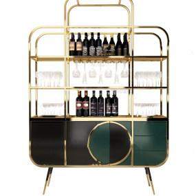 现代金属酒柜3d模型【ID:643348278】