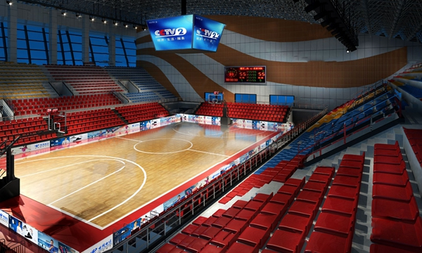 現代籃球館3D模型【ID:848243786】