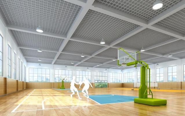 學校體育館3D模型【ID:327914005】