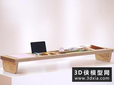现代办公用品组合国外3D模型【ID:929391042】