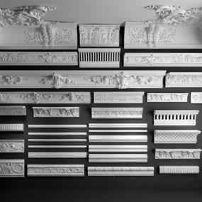 欧式古典雕花石膏线3D模型【ID:828134639】