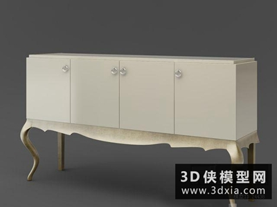 欧式装饰柜国外3D模型【ID:829343058】