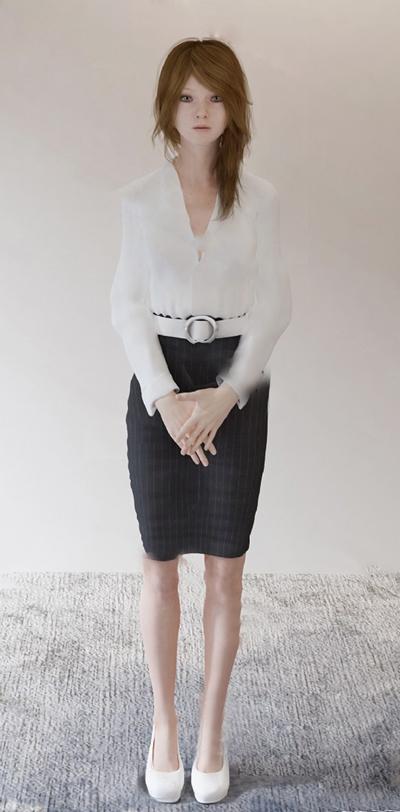 现代女人3D模型【ID:624880510】
