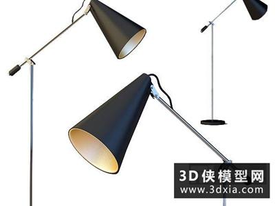現代落地燈國外3D模型【ID:929442000】
