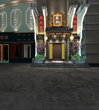 中式门头3D模型【ID:726225596】