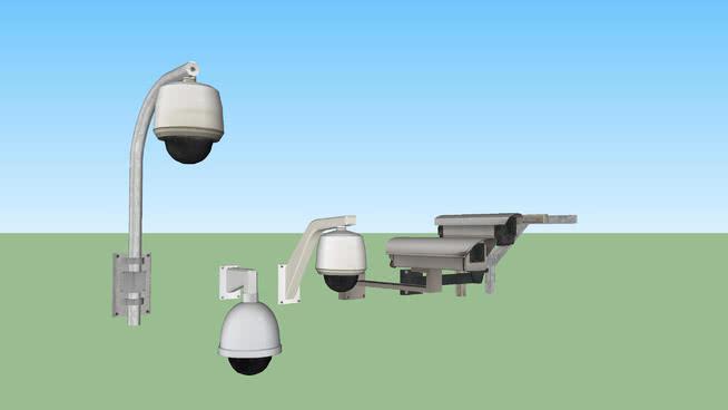 安全攝像機組SU模型【ID:740053958】