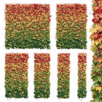 現代植物背景墻3D模型【ID:128389142】