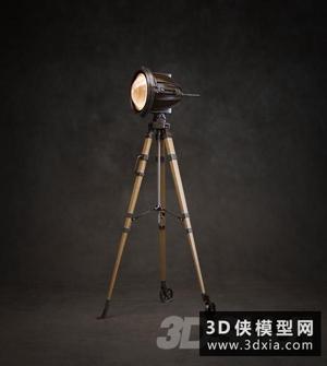 現代工業落地燈國外3D模型【ID:929327054】