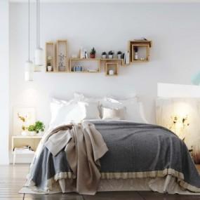 北欧卧室3d模型【ID:128414350】