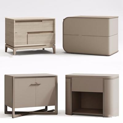现代床头柜组合3D模型【ID:928212633】