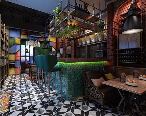 工業風小酒吧3D模型【ID:427983403】