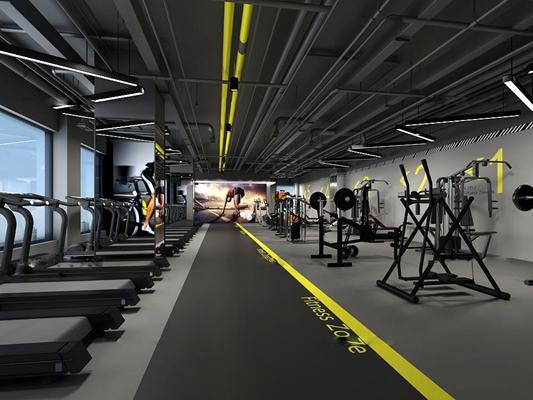 现代健身房3D模型【ID:96878137】