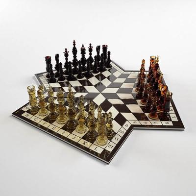 三人国际象棋国外模型3D模型【ID:96892825】