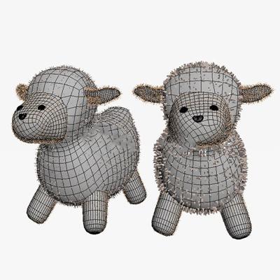 绵羊儿童玩具玩偶娃娃玩偶娃娃3D模型【ID:96893121】