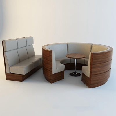 商业卡座沙发沙发3D模型【ID:96929991】