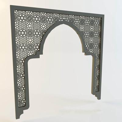 东南亚风格拱门隔断分区3D模型【ID:96938633】