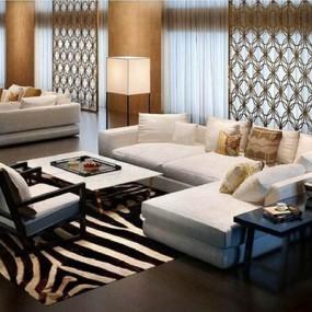 现代客厅沙发组合006null3D模型【ID:96958296】