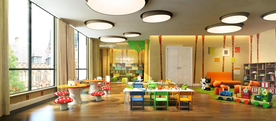 现代幼儿教室3D模型【ID:96964132】