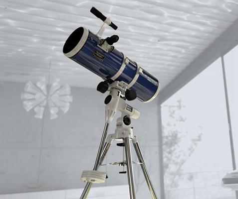 现代望远镜3D模型【ID:96969349】