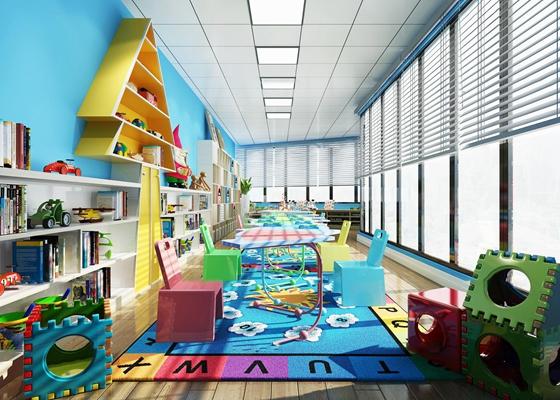现代幼儿园活动中心3D模型【ID:96970632】