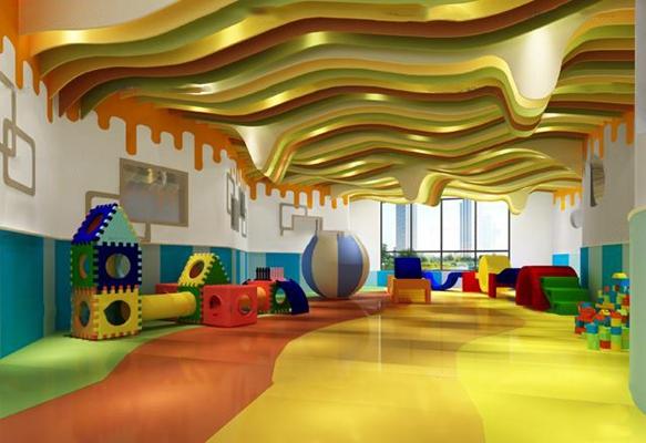 现代儿童游戏室3D模型【ID:96971132】