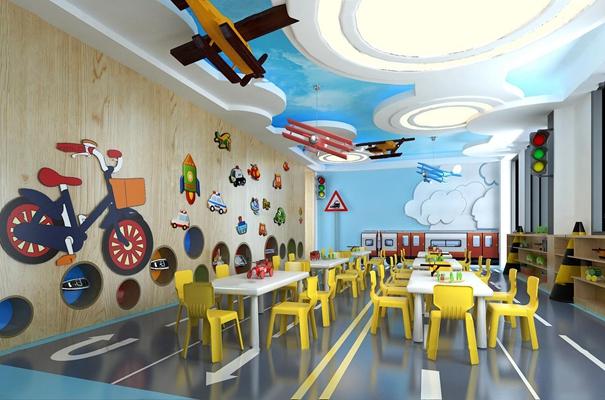现代幼儿园生活体验室3D模型【ID:96971538】
